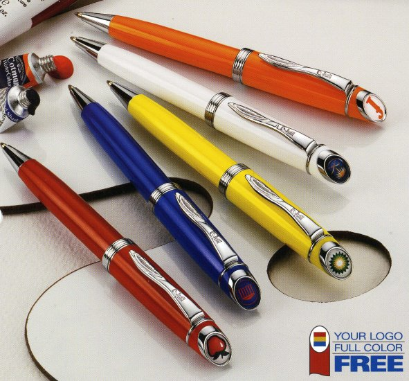 100 Quill 100 series featherline click-top ballpoint pens