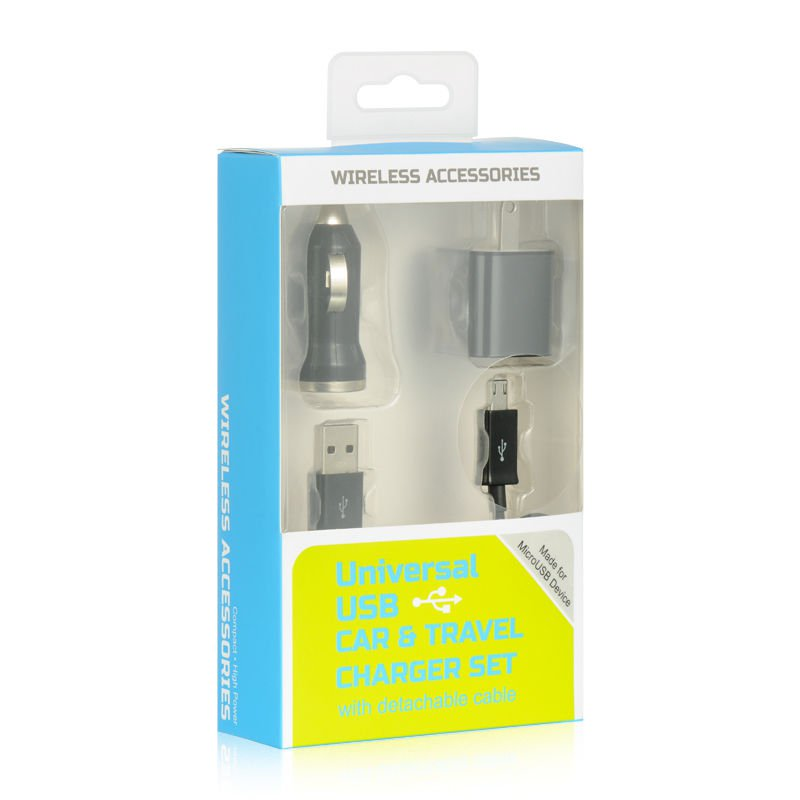 UNIVERSAL 3 IN 1 CHARGER Usb Charger Sync Iphone Cable 4 Data BLACK USA HOT!