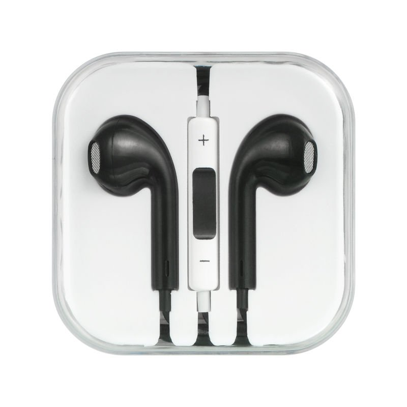 IPHONE / IPOD/IPAD STEREO HANDS FREE WITH MIC ULTRA COMFORTABLE BLACK� 3.5mm USA
