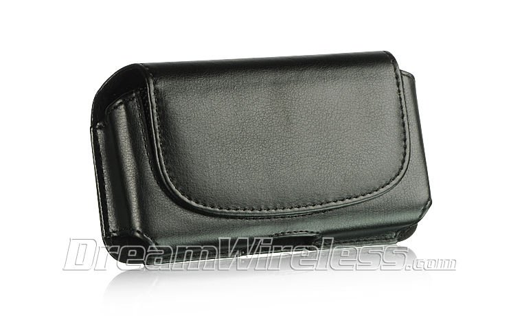 SAMSUNG INFUSE DW HORIZONTAL POUCH CASE CELL LEATHER COVERCLIP-ON BELT BLACK USA
