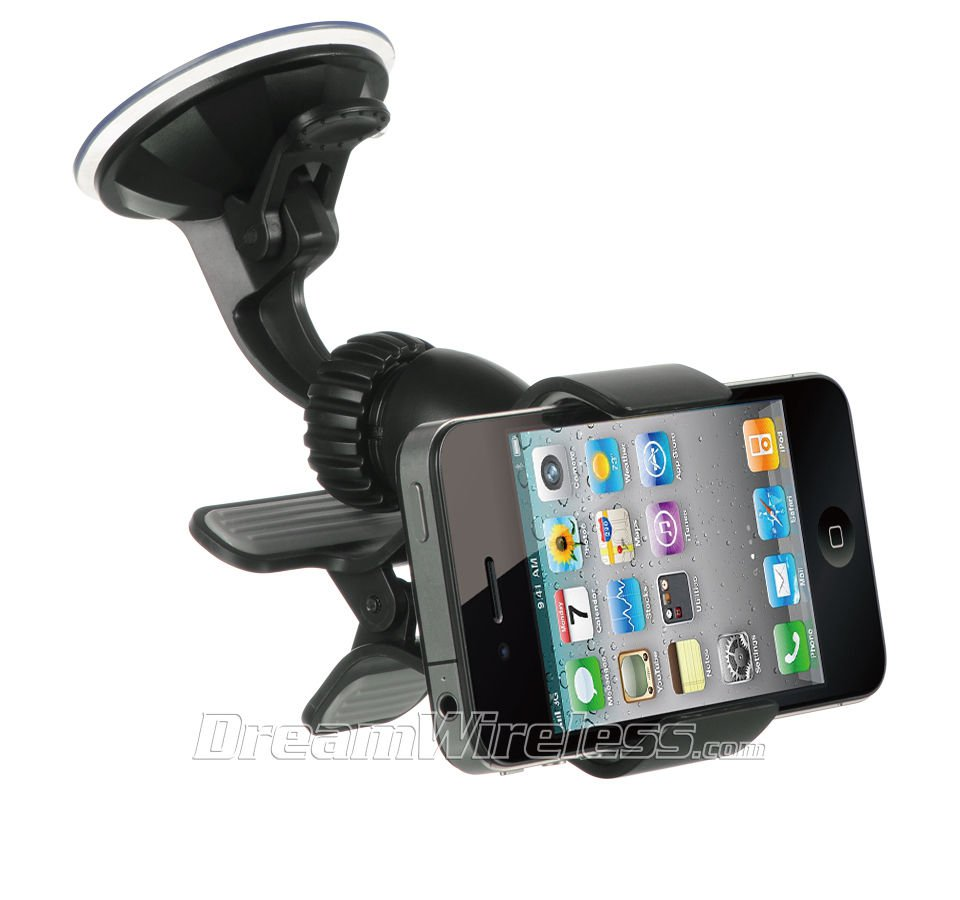 UNIVERSAL CAR MOUNT HOLDER FOR GPS  IPHONE® PDA  MOBILE PHONE MP4 USA