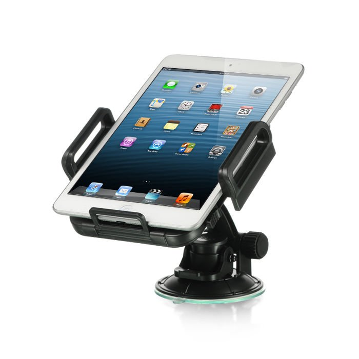 SECURE CAR MOUNT HOLDER W PADDED SIDE GRIPS/WINGS FOR IPAD / GPS IPHONE PDA USA