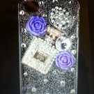 Apple iPhone 4 4S Crystal Bling Diamond Case Rose Purse Clear (PERFUME) Luxury