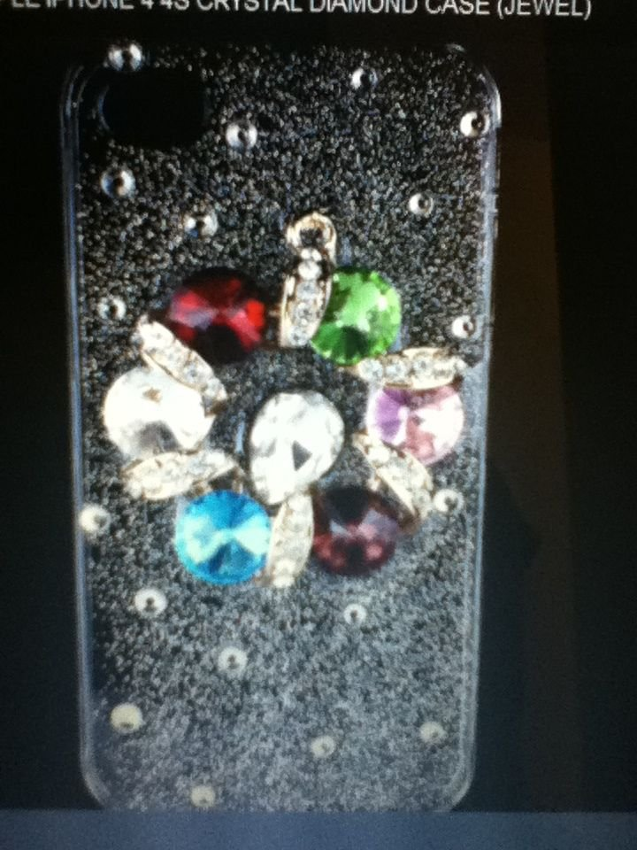 Apple iPhone 4 4S Bling Cover Crystal Diamond Case(Jewel) Luxury Rhinestone New!