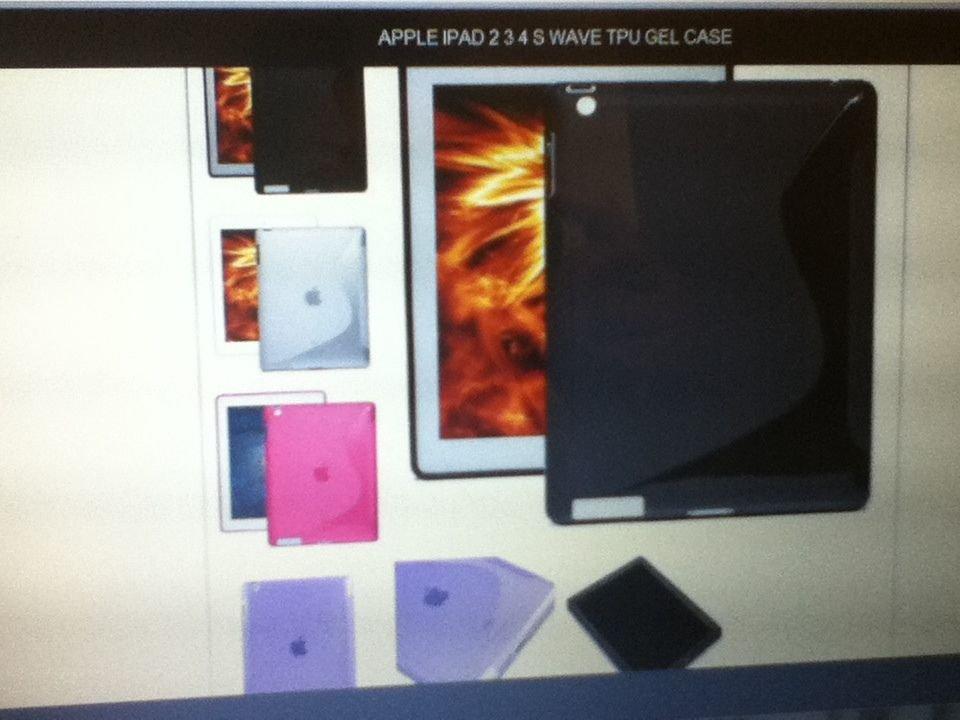 Apple iPad 2 Ipad3 Ipad4 S Wave TPU Gel Case Great Flexibility BLACK