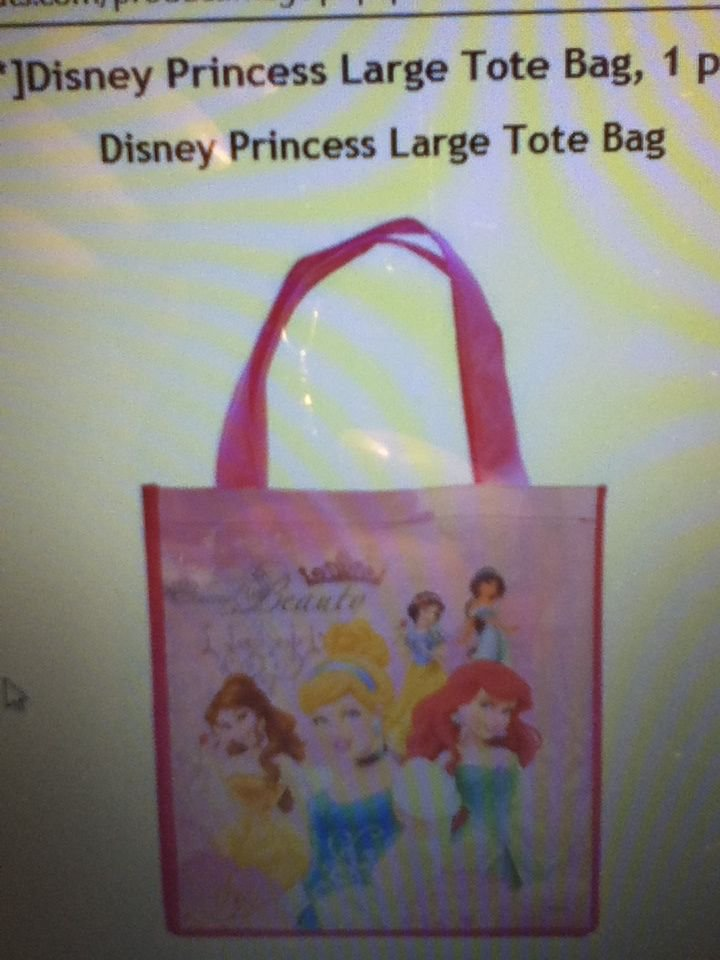 Disney Princess Large Tote Bag Princess Shopping Reusable Belle Cinderella New
