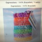 Expressions 14 Pc Lot Bracelets Accessory Charms Bracelets Multicolor, Ages 3+