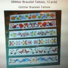 Temporary Glittter Bracelet Tattoos Flower Jewelry Elegant Mix Beautiful12 pc(s)