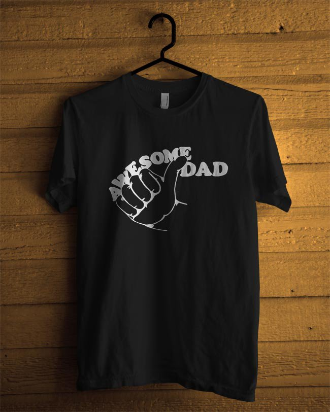 awesom dad  MENS TSHIRT