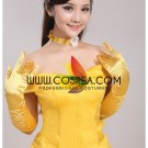 Cosrea Beauty And Beast Belle Classic Yellow Satin Cosplay Costume