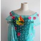 Cosrea Frozen Fever Elsa Embroidered Floral Cosplay