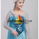 Cosrea Frozen Elsa Ice Queen Light Blue Sequin Cosplay Costume
