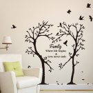 LARGE Family Inspirational Love Tree Wall Art Sticker, Wall Sticker Decal