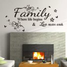 Large Family Inspirational Wall ART Quotes Vinyl Wall Sticker/Decal