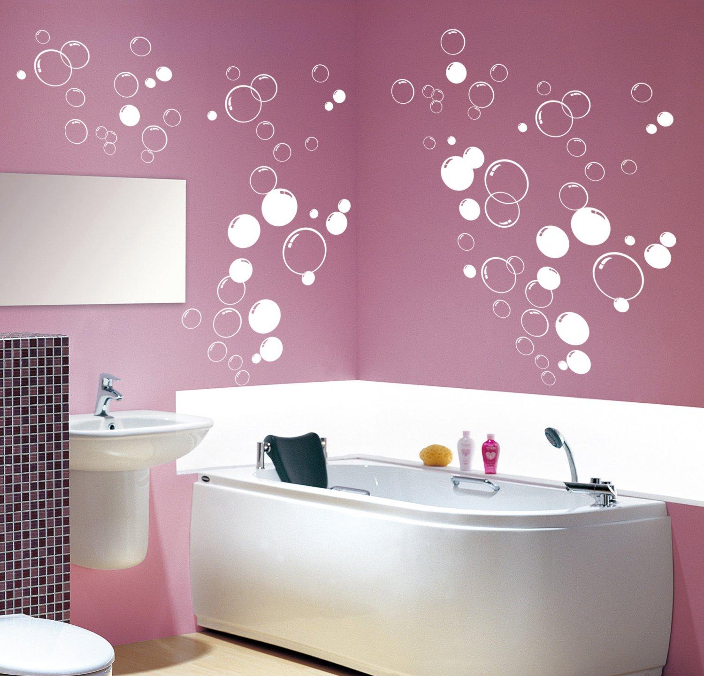 90x Multi Size Bubbles Bathroom, Shower Door, Vinyl Wall Stickers