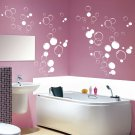 90x Multi Size Bubbles Bathroom, Shower Door, Vinyl Wall Stickers