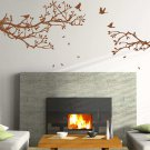 Large 'Tree LargeBranch with Birds' Art Vinyl Wall Sticker, DIY Wall Decal