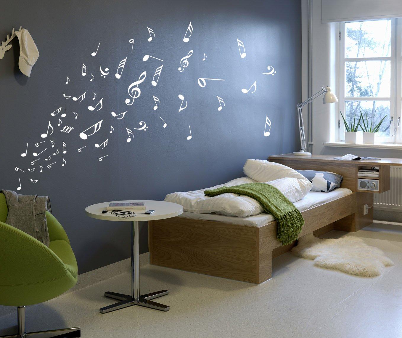 Music Musical Melody Note Vinyl Stickers, Wall Window Art Sticker