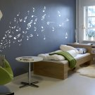 Music Musical Melody Note Vinyl Stickers, Wall Window Art Sticker