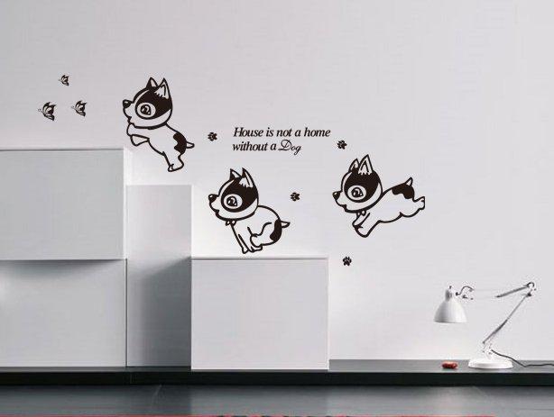 Dog Wall Art Quotes Vinyl Sticker, DIY Wall Art Decor/Wall Decal