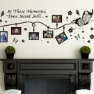 Large Butterfly Photo Frames Art VINYL wall sticker
