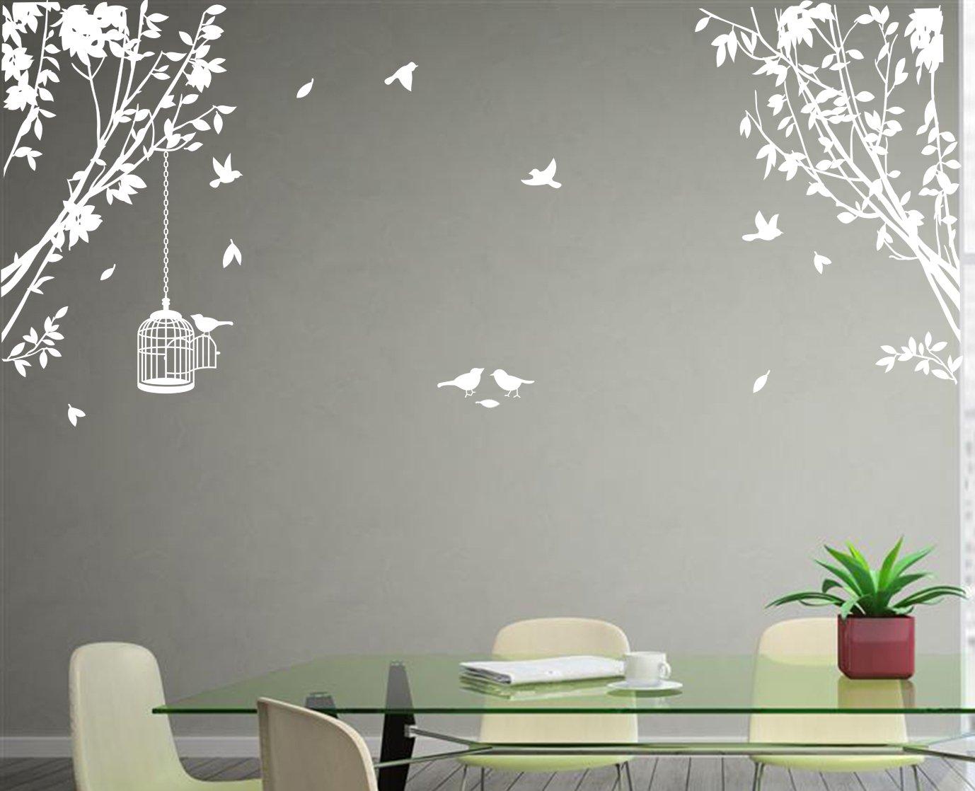 Large Side Wall Tree Art Vinyl Wall Sticker DIY Wall Decal