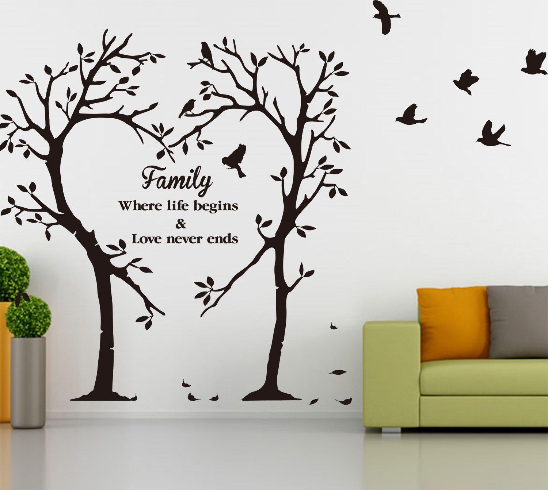 Family Inspirational Love Tree Wall Art Sticker, Wall Sticker Decal [MEDIUM]