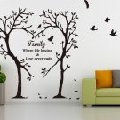 Family Inspirational Love Tree Wall Art Sticker, Wall Sticker Decal [MEDIUM]