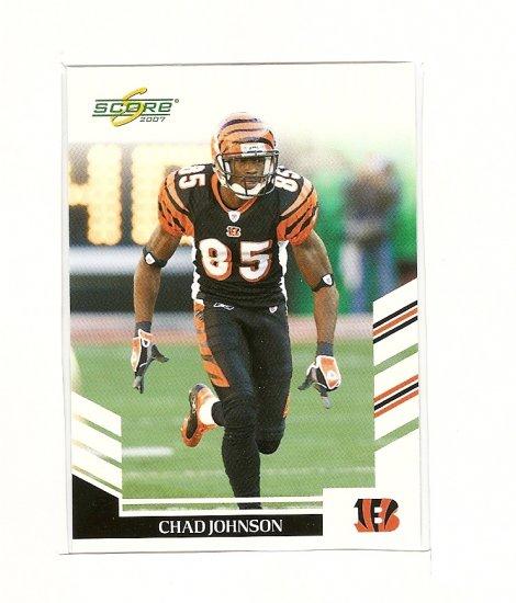 2007 Score Football,Chad Johnson #188