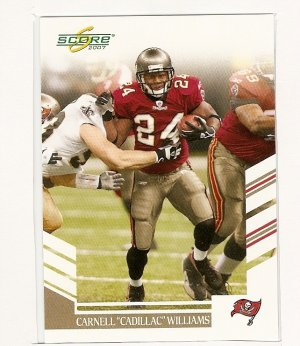 "2007 Score Football,Carnell""cadillac""Williams,#97"