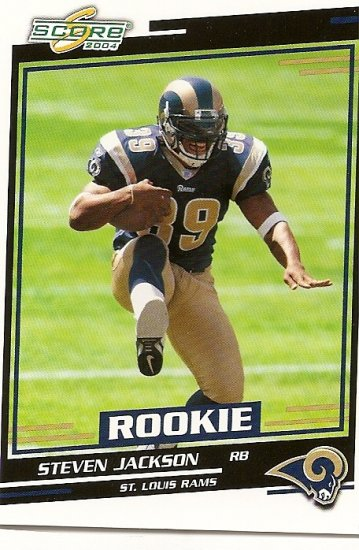 2004 Score Football Steven Jackson #392 RC