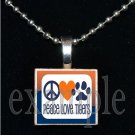 TIGERS Orange & Navy Mascot Team Jersey Pendant
