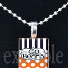 GO BEARS Team Mascot Pendant Necklace or Keychain Choices