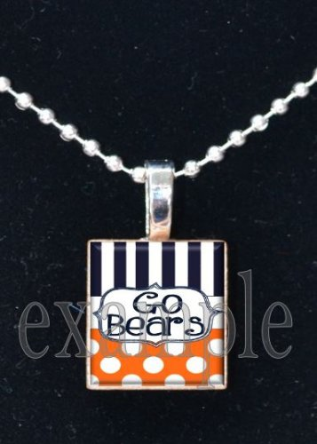 GO BEARS Team Mascot Pendant Necklace or Keychain Choices