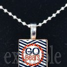 GO BEARS Team Mascot Necklace Pendant Keychain Choices