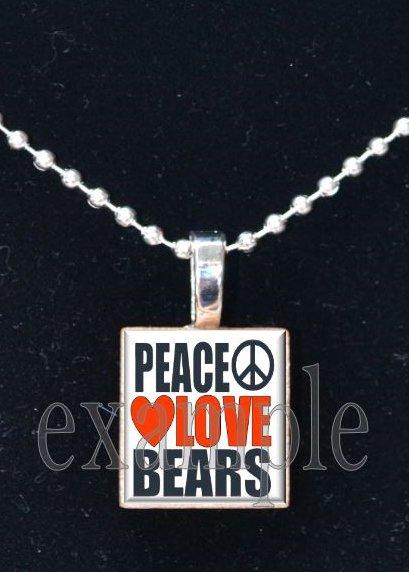 PEACE LOVE BEARS Team Mascot Pendant or Keychain Choices