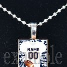 BEARS PERSONALIZED CUSTOM FOOTBALL JERSEY Team Mascot Pendant Choices