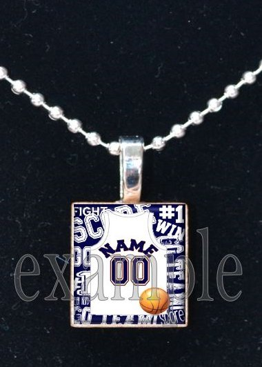 BEARS PERSONALIZED BASKETBALL JERSEY CUSTOM Team Mascot Pendant Choices