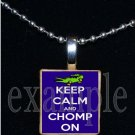 KEEP CALM AND GO GATORS Blue & Orange Team Mascot Pendant Necklace or Keychain