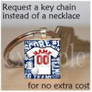 CARDINALS PERSONALIZED JERSEY Baseball Red, White & Blue Team Mascot Keychain