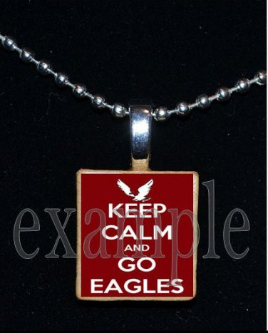 KEEP CALM NICEVILLE HIGH SCHOOL EAGLES School Team Mascot Pendant Necklace Charm or Keychain