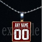 NICEVILLE EAGLES PERSONALIZED FOOTBALL JERSEY Team Mascot Necklace Charm or Keychain