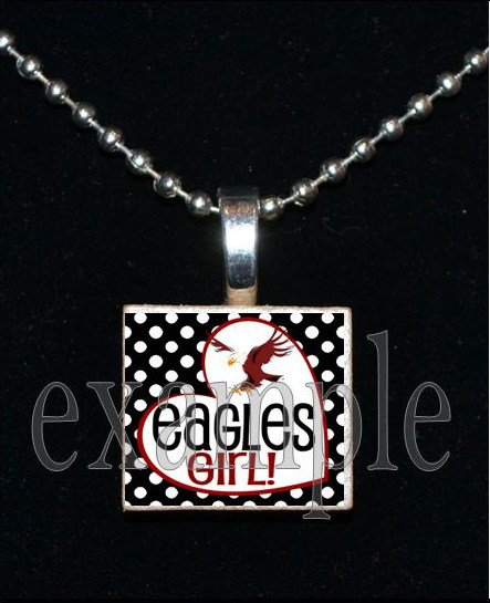 NICEVILLE HIGH SCHOOL EAGLES GIRL School Team Mascot Pendant Necklace Charm or Keychain