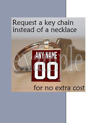 NICEVILLE HS EAGLES PERSONALIZED JERSEY School Team Mascot Keychain
