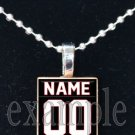 FALCONS PERSONALIZED JERSEY Red, Black & White Team Mascot Pendant Necklace or Keychain
