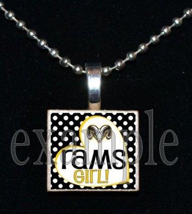 RUCKEL RAMS GIRL Team Mascot Pendant Charm or Keychain