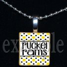 RUCKEL RAMS Team Mascot Pendant Necklace Charm or Keychain