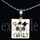 RUCKEL RAMS GIRL Team Mascot Pendant Necklace Charm or Keychain