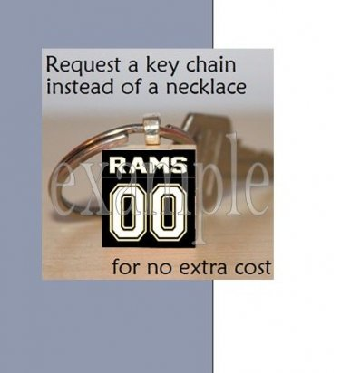 RUCKEL RAMS Black & Gold Team Mascot Keychain