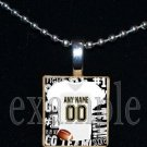 Personalized Custom Name Team FOOTBALL Jersey Scrabble Necklace Charm or Key-chain